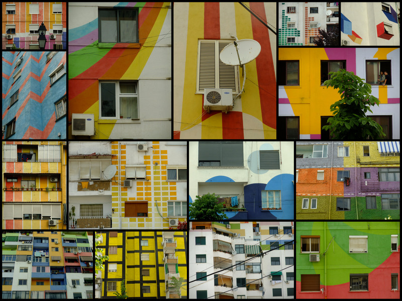 Tirana Collage by Tal Bright, Flickr, https://www.flickr.com/photos/bright/4656047644