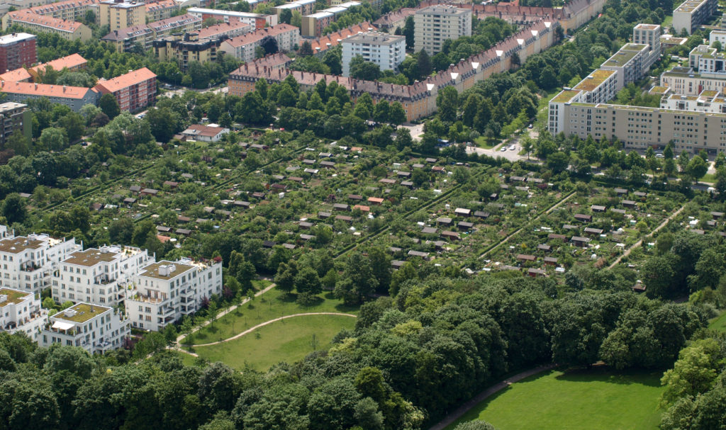 Allotment Gardens in Munich, Germany. Source: Kleingartenanlage: Von Dan Mihai Pitea - Eigenes Werk, CC-BY-SA 4.0, https://commons.wikimedia.org/w/index.php?curid=39238045