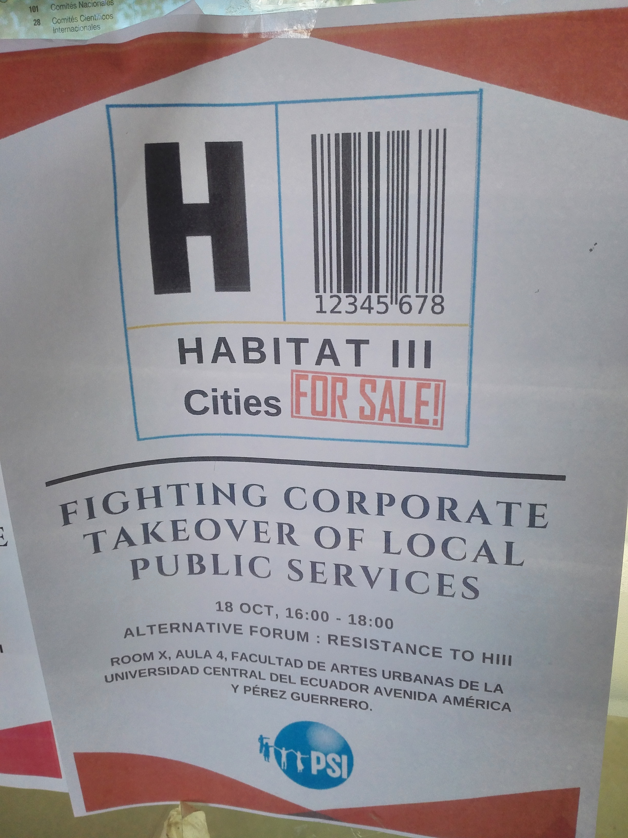 A different take on the official Habitat III logo...