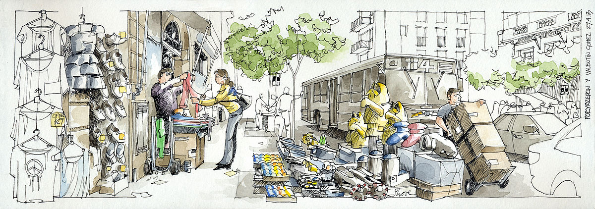 urban sketching, Buenos Aires