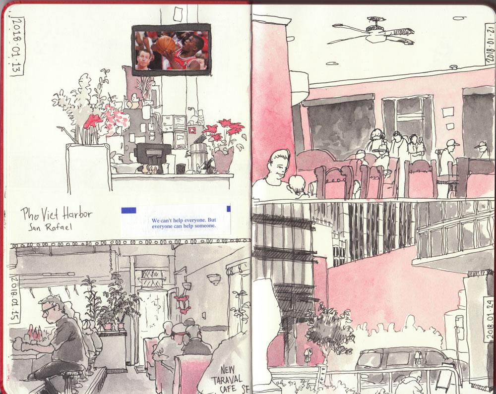 Urban Sketching, notebook, sketching, city, urban, street art
